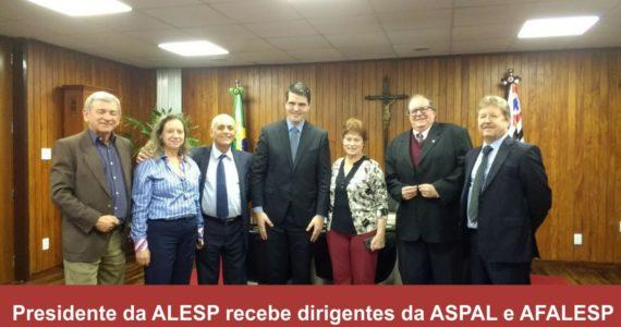 Presidente da ALESP recebe dirigentes da ASPAL e AFALESP
