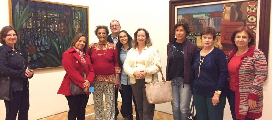 Visita realizada dia 23/10 pelo pessoal da Afalesp e Aspal a exposição das obras de Di Cavalcanti na Pinacoteca.