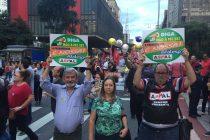 Aspal e Afalesp na Paulista contra a Reforma da Previdência