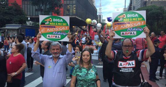 Aspal e Afalesp na Paulista contra a Reforma da Previdência (4)