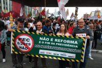 Protesto contra a reforma da Previdência realizado dia 22/03/2019 na Avenida Paulista