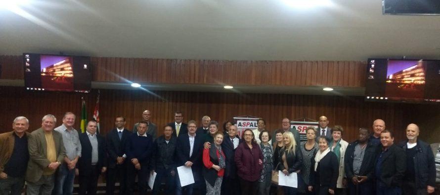 NOVA DIRETORIA DA ASPAL TOMA POSSE EM SOLENIDADE NO PALÁCIO 9 DE JULHO