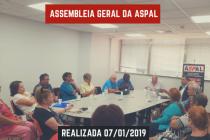 Assembleia Geral da Aspal realizada 07/01/2019